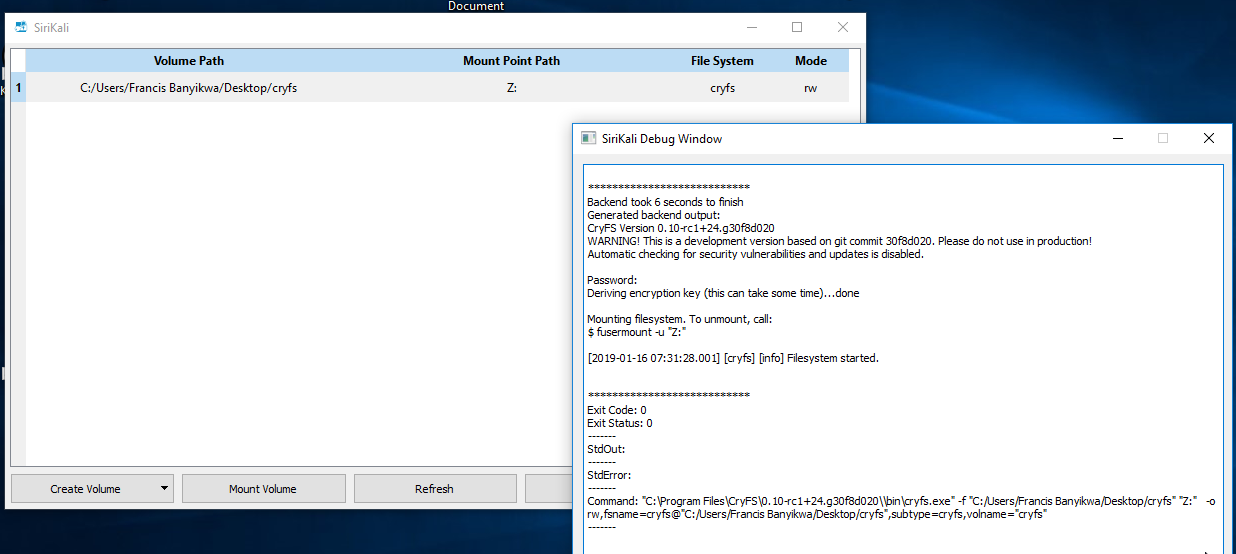 Windows Support · Issue #157 · cryfs/cryfs · GitHub