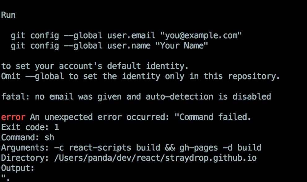 git config global