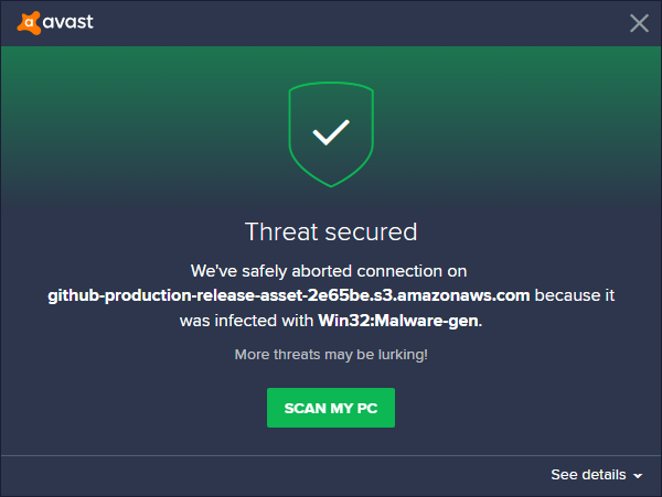 There is a malware in RDPWrap-v1 6 2 zip or github (Avast