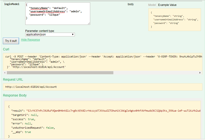 can not login using Swagger · Issue #3658