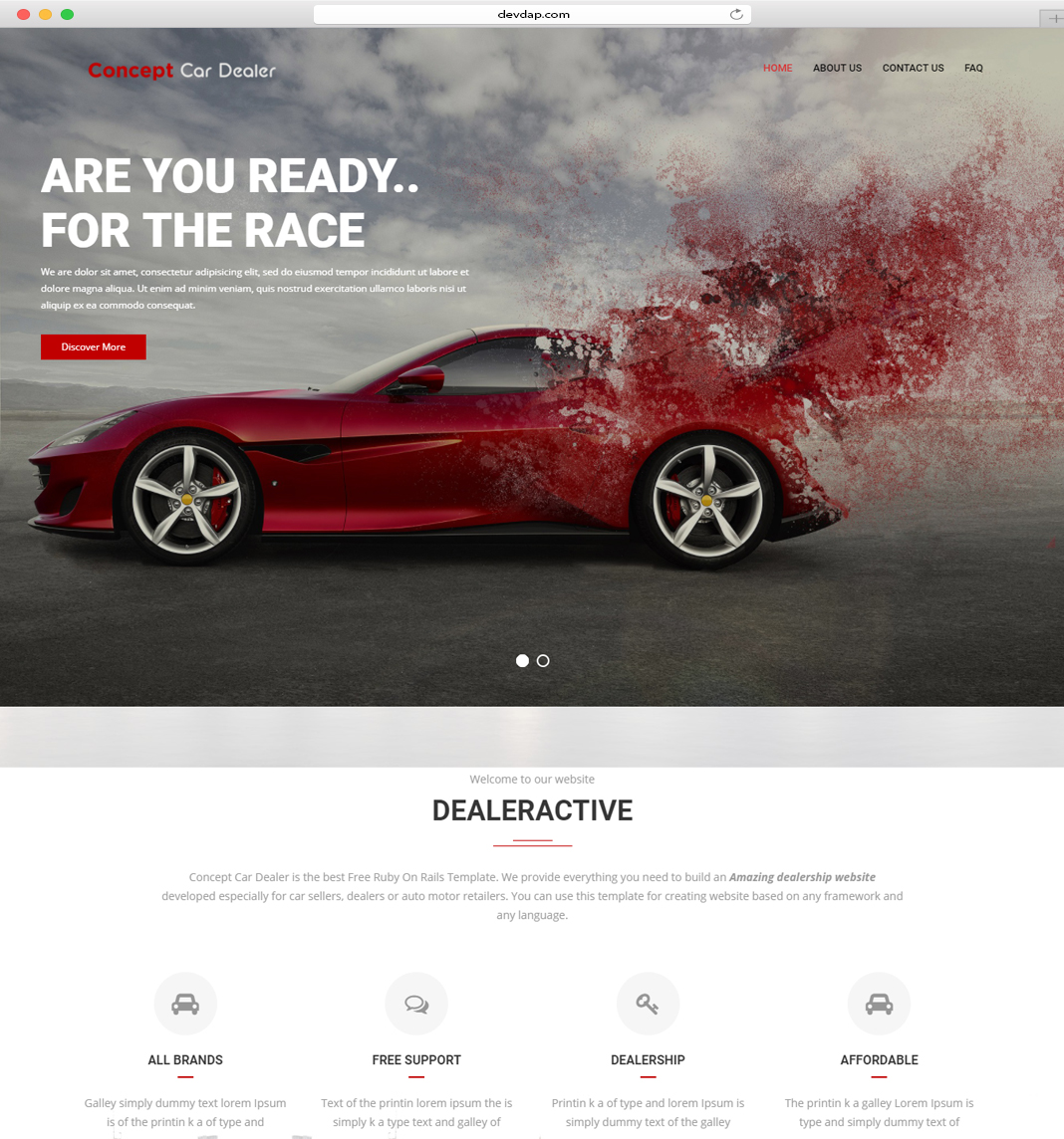 Github Devdapconcept Car Dealer Car Dealer Beautiful Bootstrap