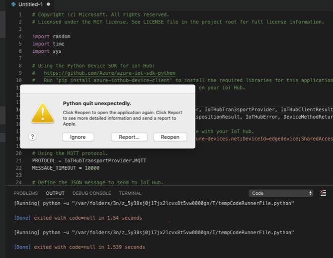 python quit unexpectedly when run python script · Issue #270