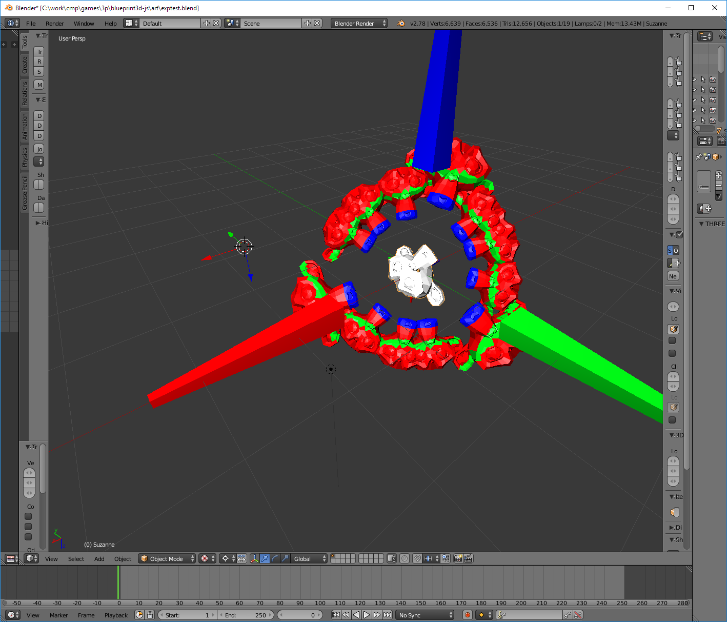 Blender exporter - Exported object transforms and geometry