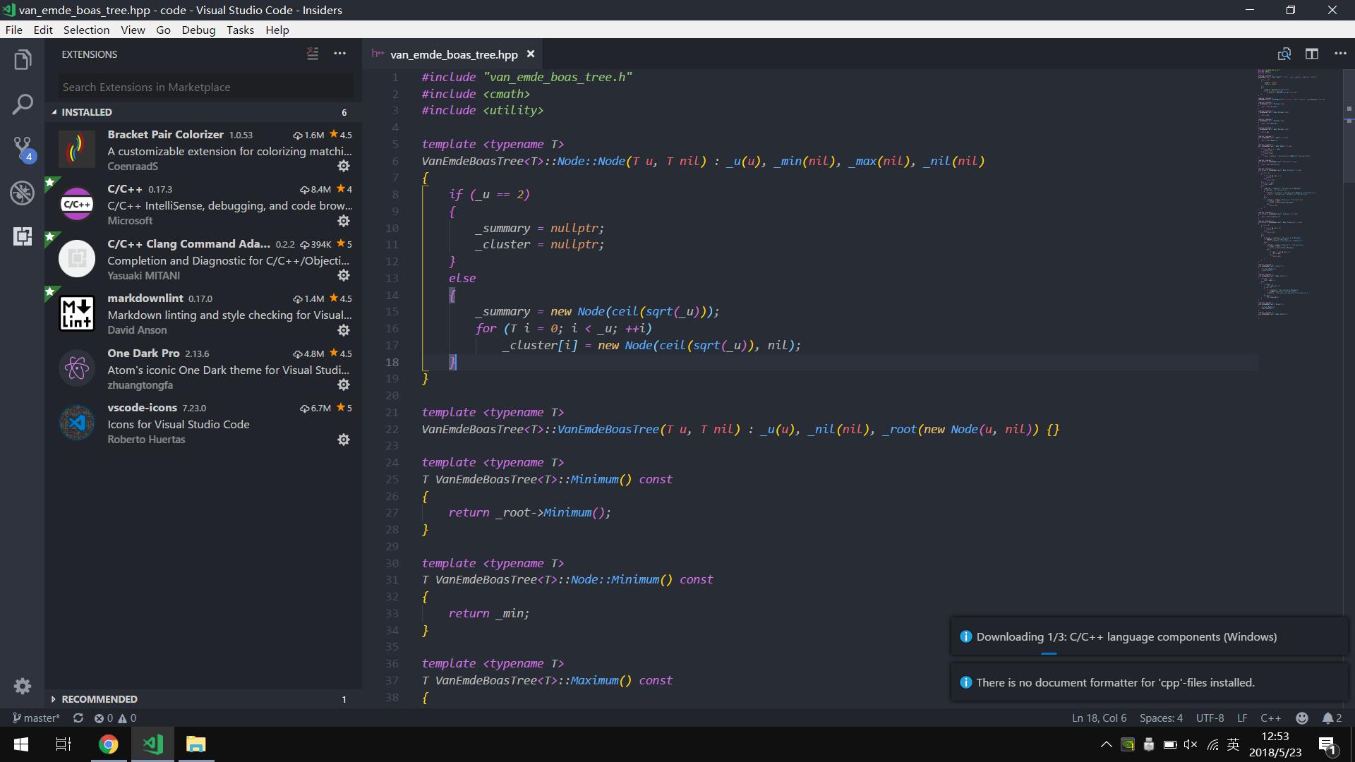 Downloading 1/3: C/C++ language components (Windows) · Issue