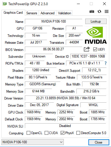 OpenHardware Can't read Nvidia P106 · Issue #1064