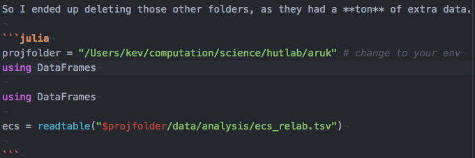 Markdown parts of  jmd not highlighting · Issue #5 · JunoLab