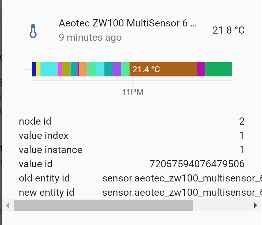 Aeotec Multisensor 6 data displayed in bar instead of graph