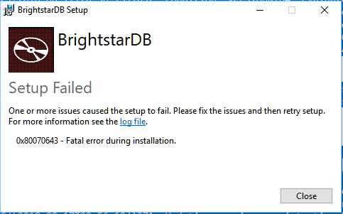 Installation failure on Windows 10 · Issue #302