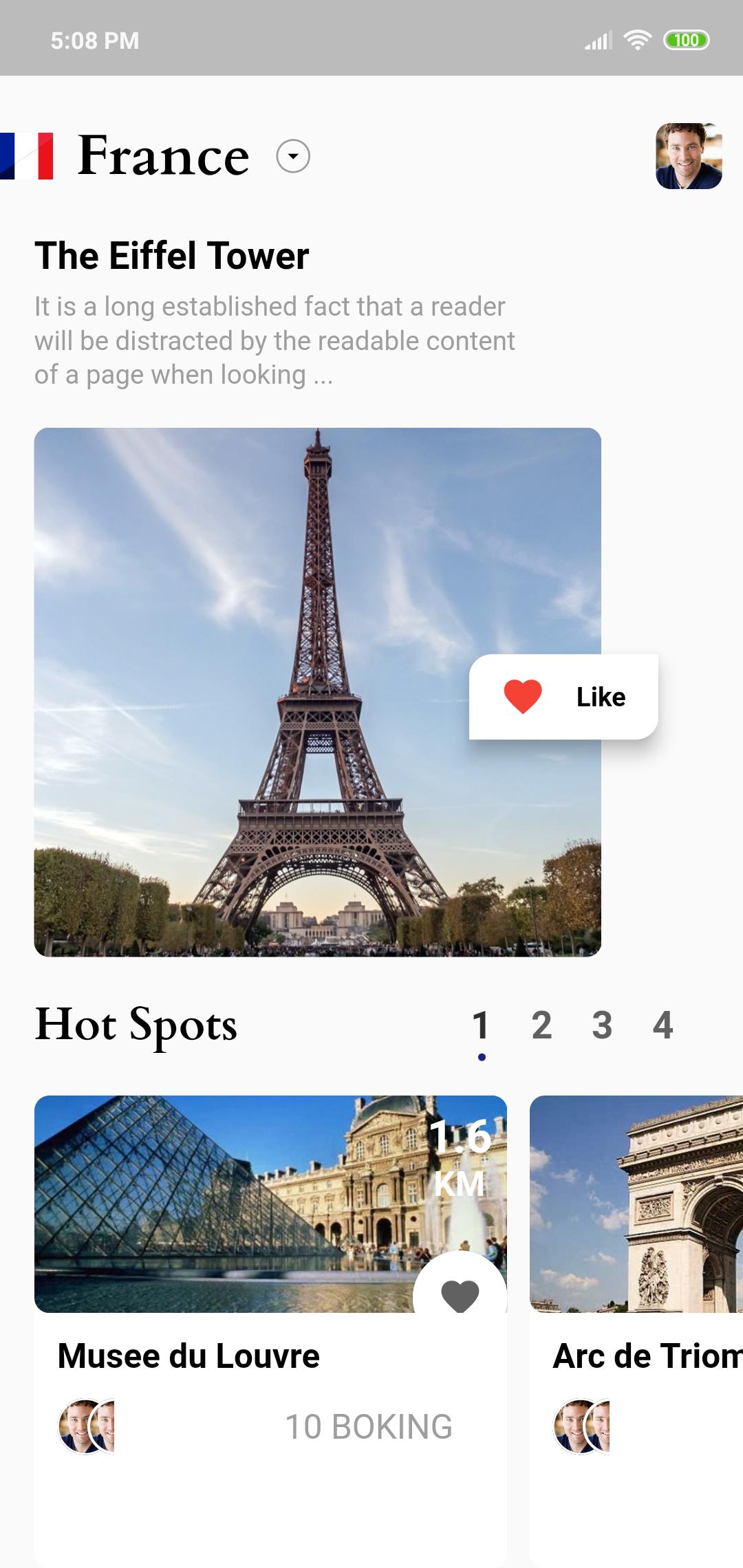 Travel Home Screen