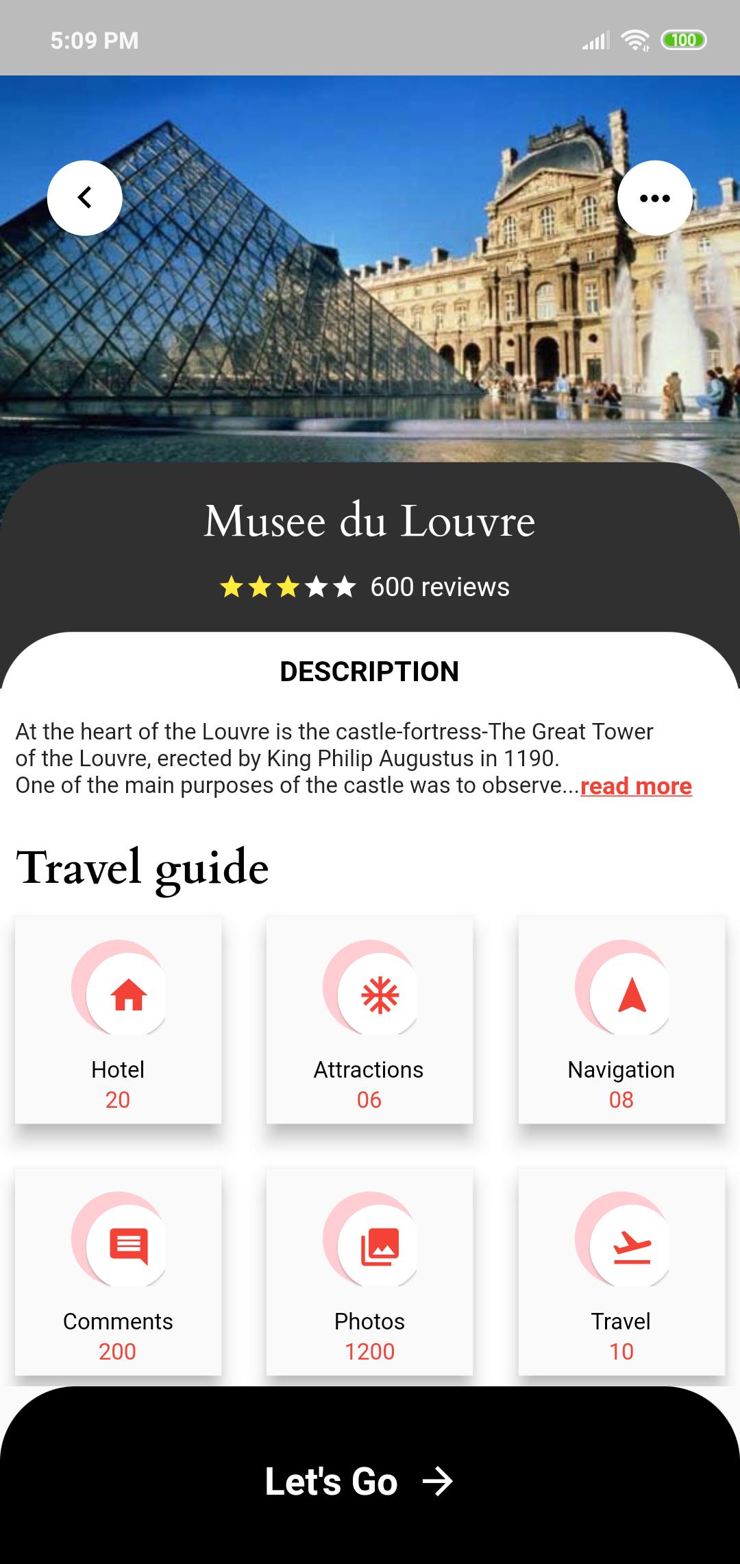 Travel Detail Screen