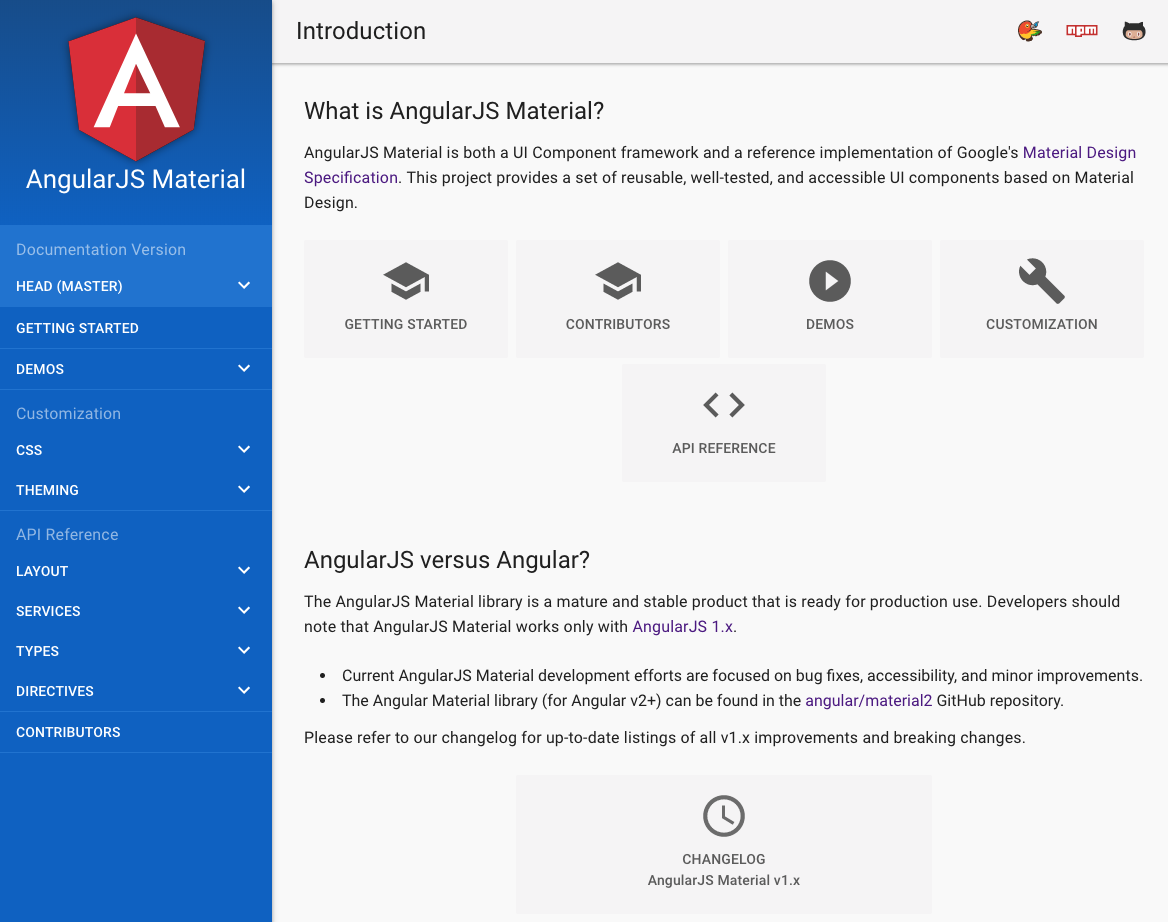material by angular