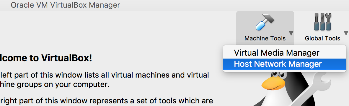 VirtualBox: physical network interfaces were not found