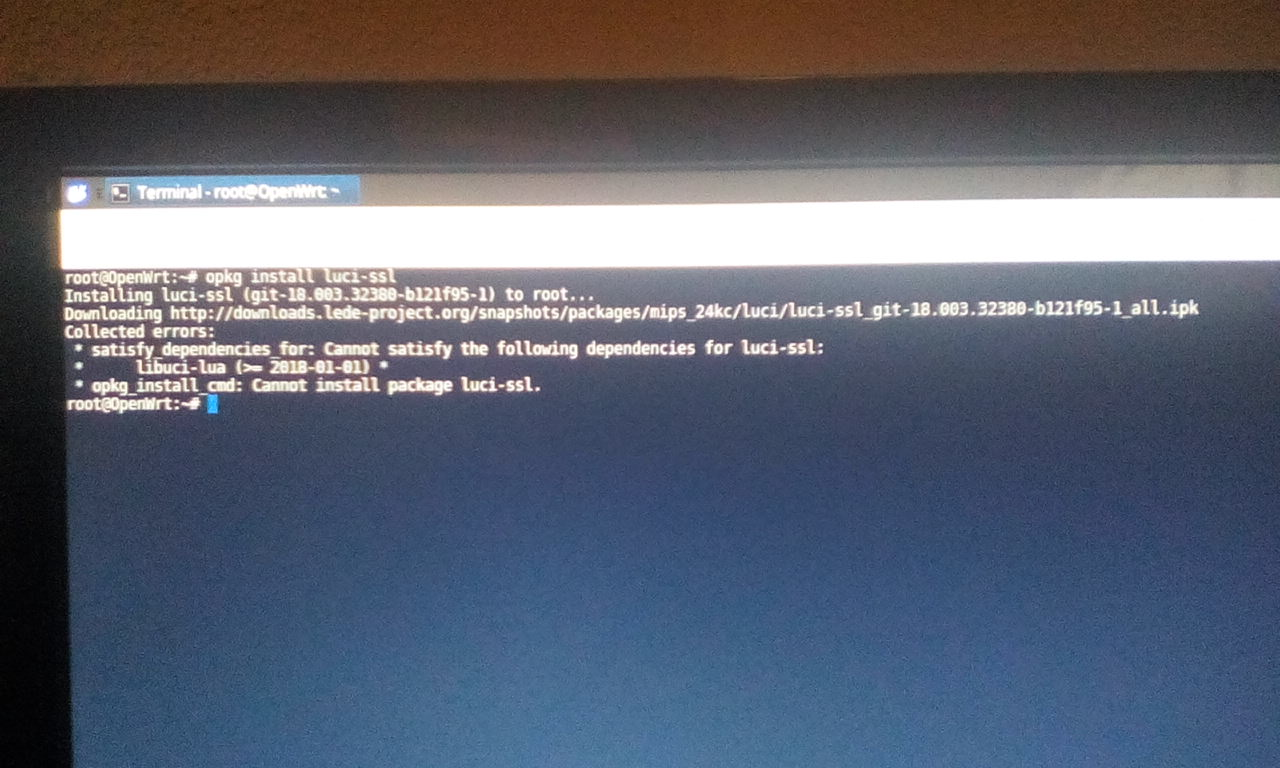 Problem installing luci (probably easy solve) · Issue #1496