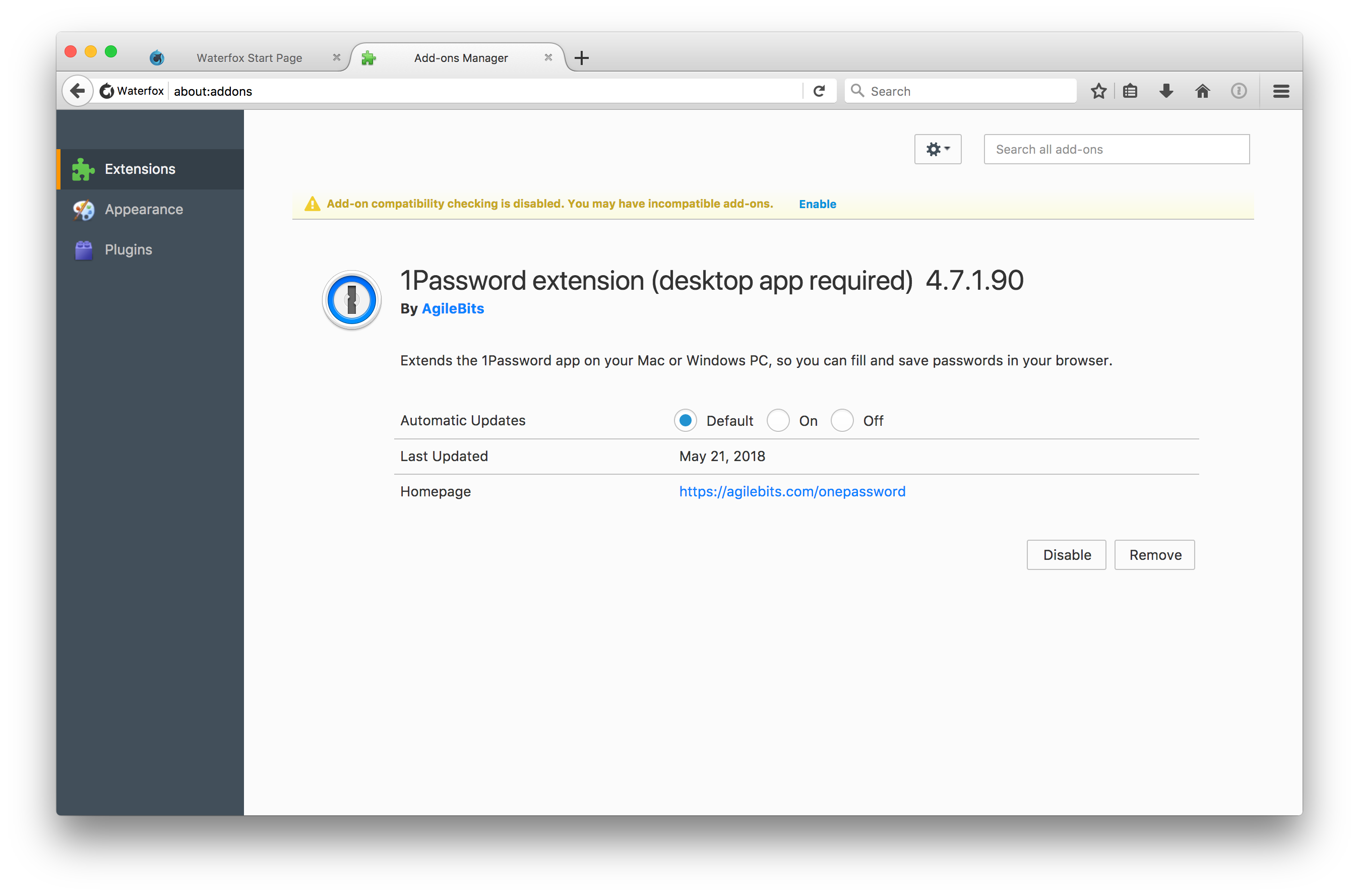 Request of supporting 1Password extension · Issue #576