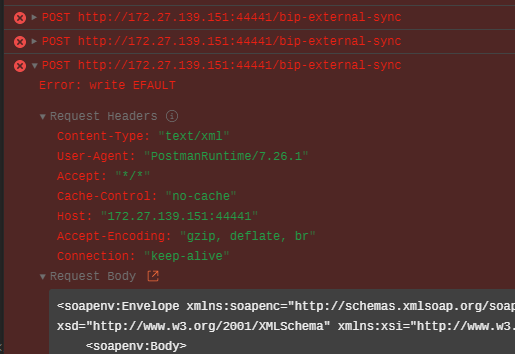 Could not send request: Error: write EFAULT · Issue #8759 ·  postmanlabs/postman-app-support · GitHub