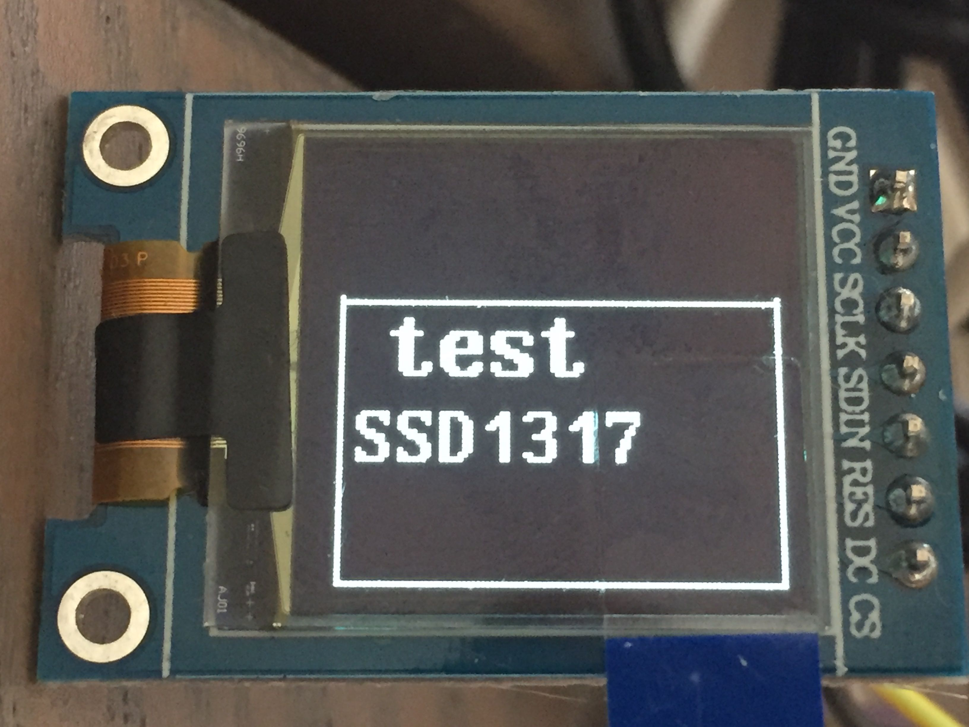 SSD1317 0 96 inch 96x96 7P SPI OLED Screen · Issue #663