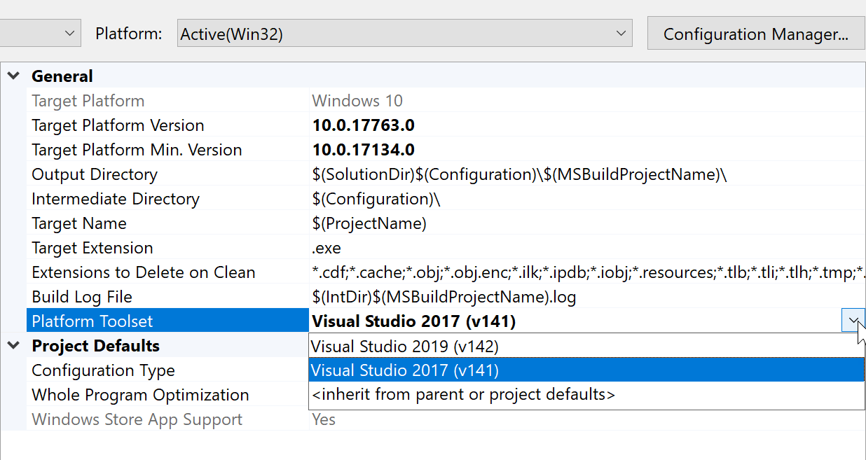 Retarget to Build Tools 142 to support Visual Studio 2019 · Issue
