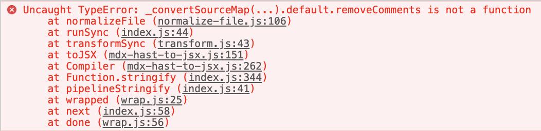 runtime issue - _convertSourceMap(   ) default