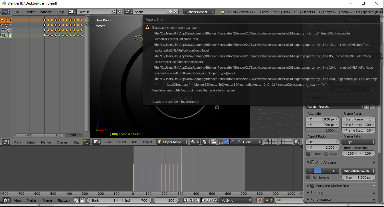 error on exporting 3d object from blender to qml? · Issue #3 · KDAB