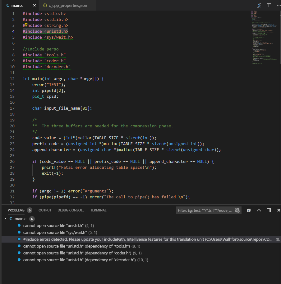 Include Errors Detected On Win 10 With Wsl Issue 2832 Microsoft Vscode Cpptools Github