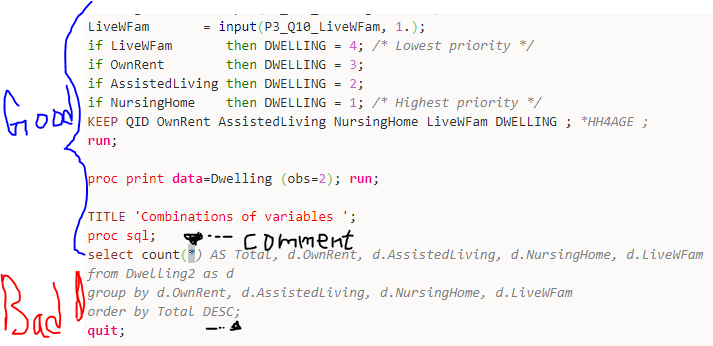CODE SAS> highlighting inside PROC SQL · Issue #114 · GeSHi