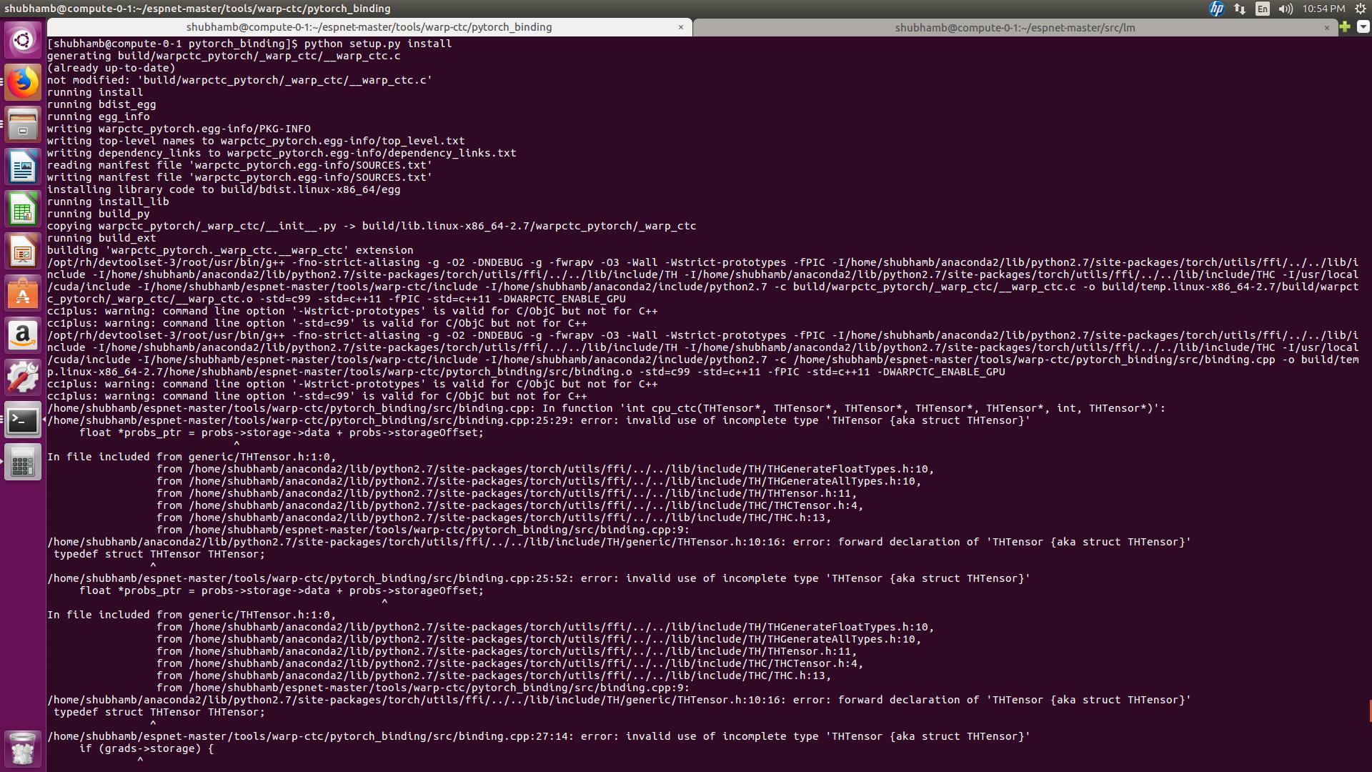 pytorch binding setup py error · Issue #74 · SeanNaren/warp-ctc · GitHub