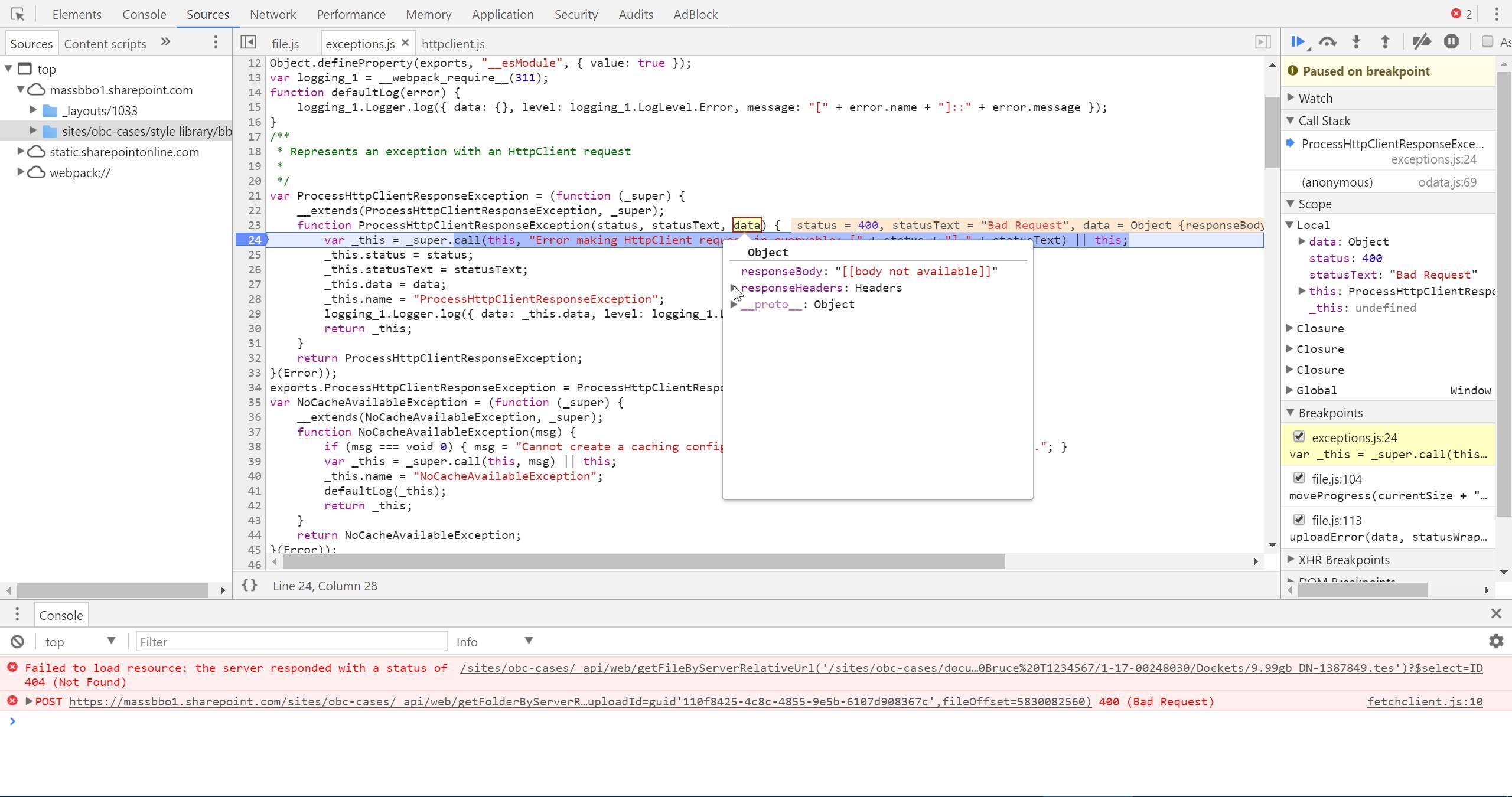 Error uploading large files · Issue #530 · SharePoint/PnP-JS