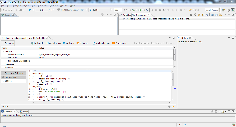 Debugging in dbeaver 5 0 2 and PostgreSQL 10 2 · Issue #3355