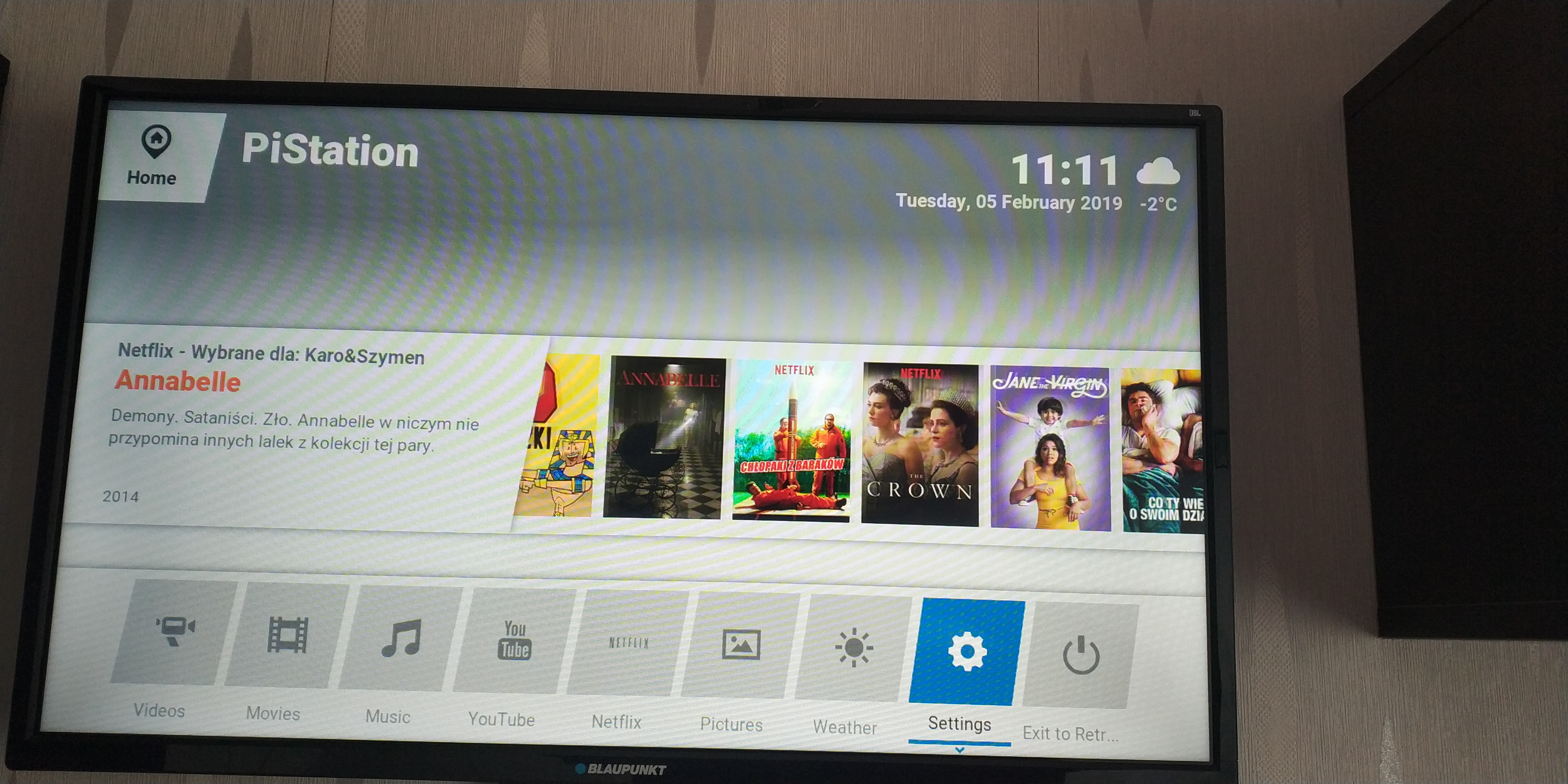 Netflix home-screen widget does not work on Kodi startup