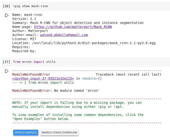 Google Colab Install Package
