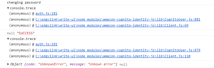 changePassword is calling callback twice on success  · Issue
