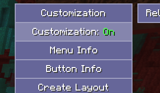 Customization Toggle