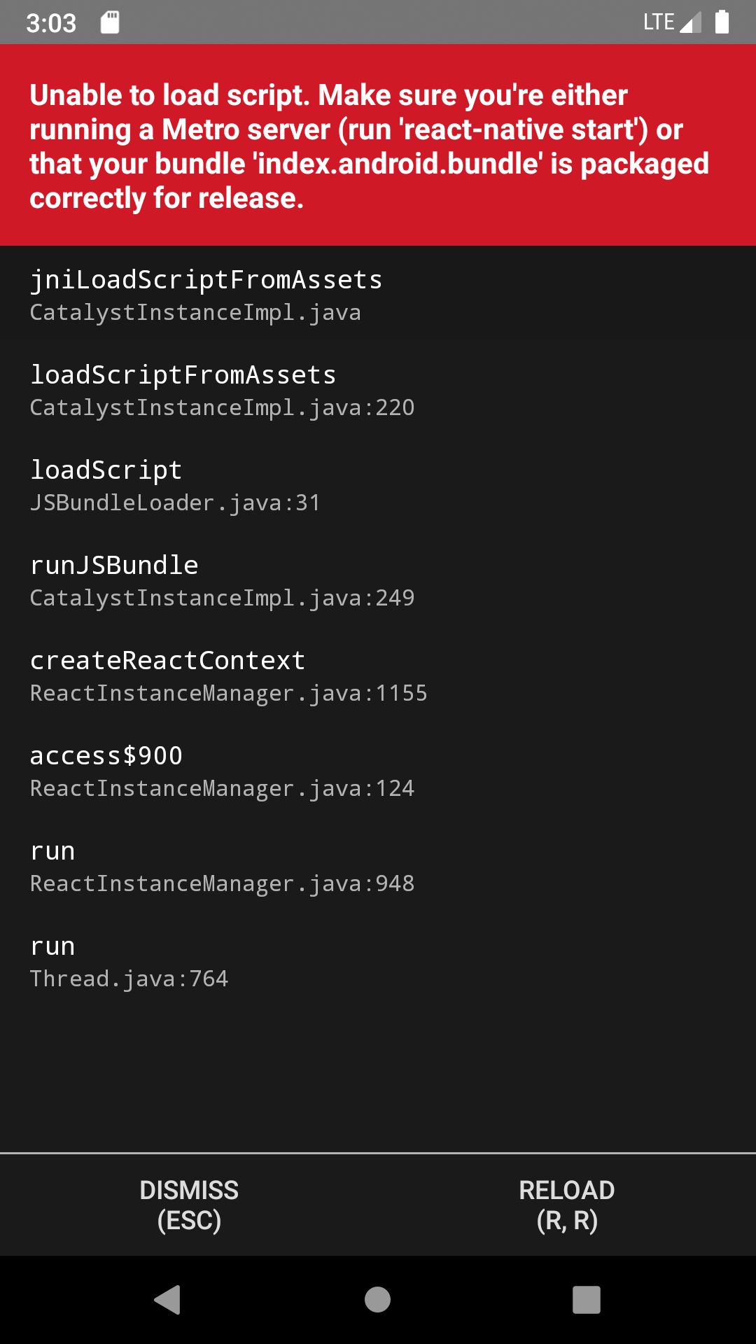 Build does not start with the 'react-native run-android