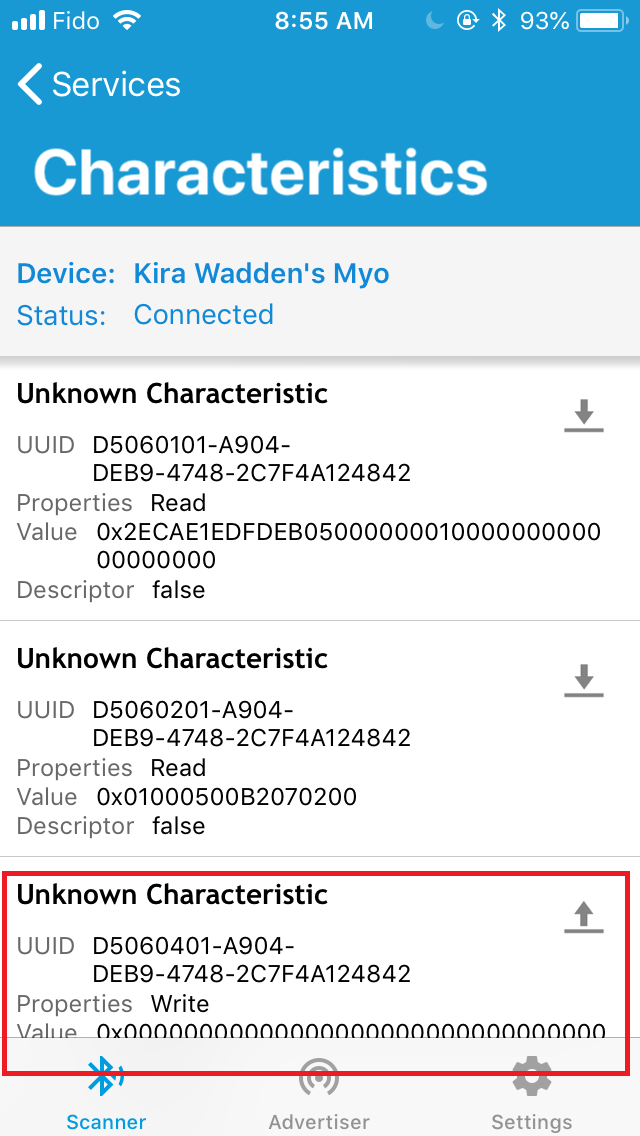 Accessing additional service uuid after connecting · Issue #614