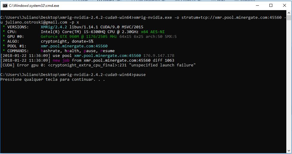 CUDA] Error gpu 0: <cryptonight_extra_cpu_final>:231