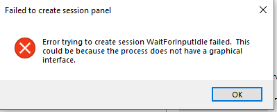Creating new session results in detached putty window