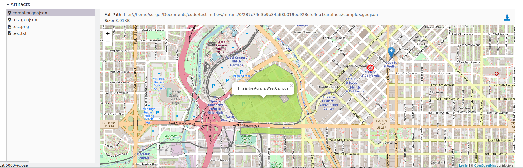 Show geojson files on leaflet map · Issue #1803 · mlflow