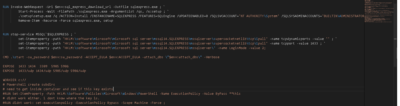 Linting stops working after RUN command in visual studio code with