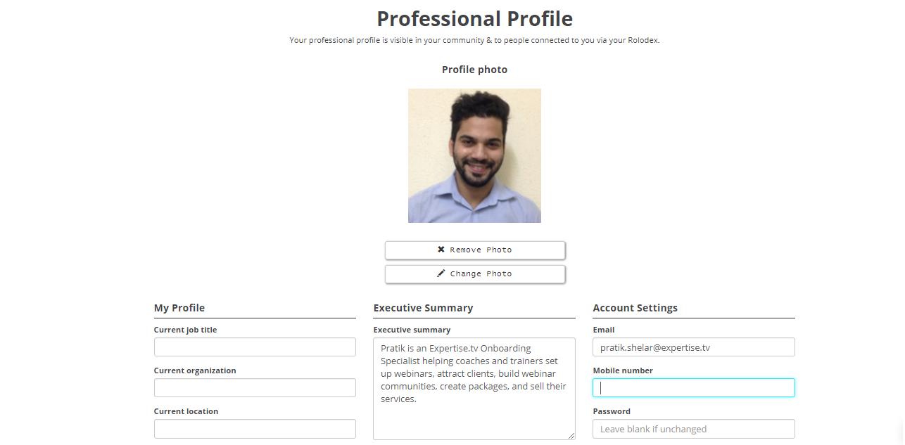 profile details