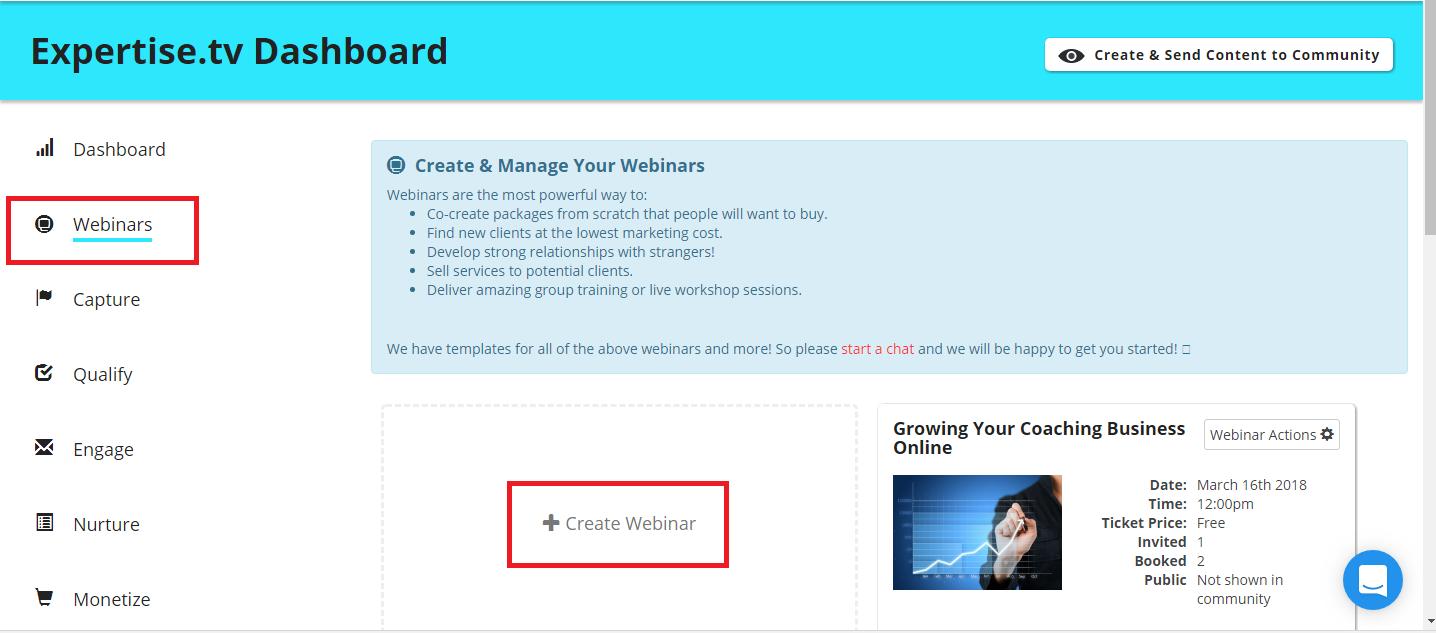 create webinar