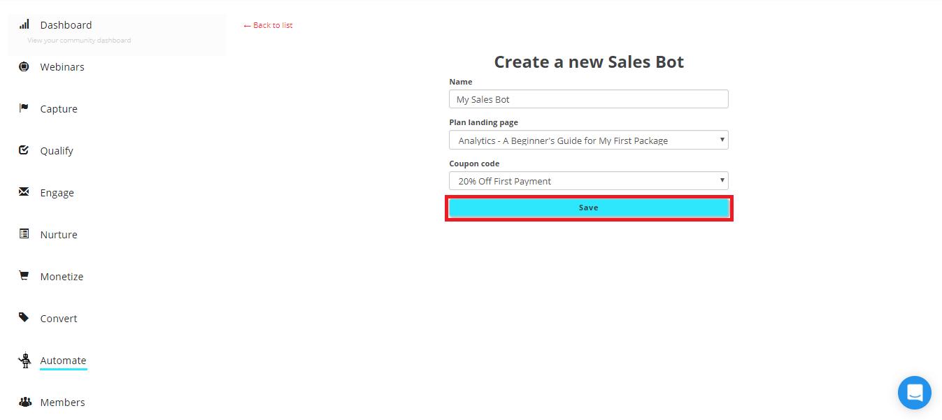 sales bot save