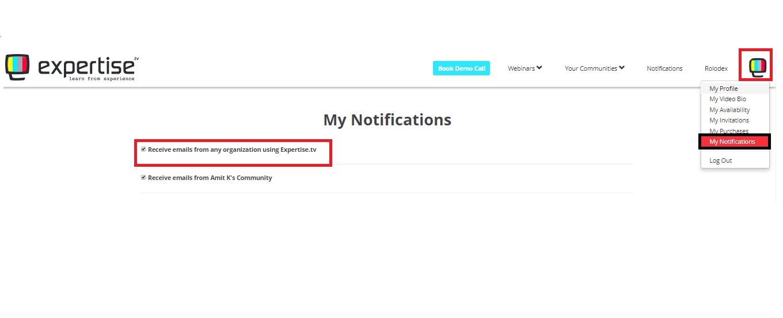 my notifications