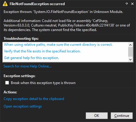 WPF XBAP FileNotFoundException when attempting to load