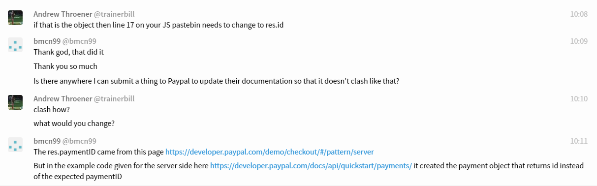 Change to id from paymentID · Issue #14 · paypal/paypal