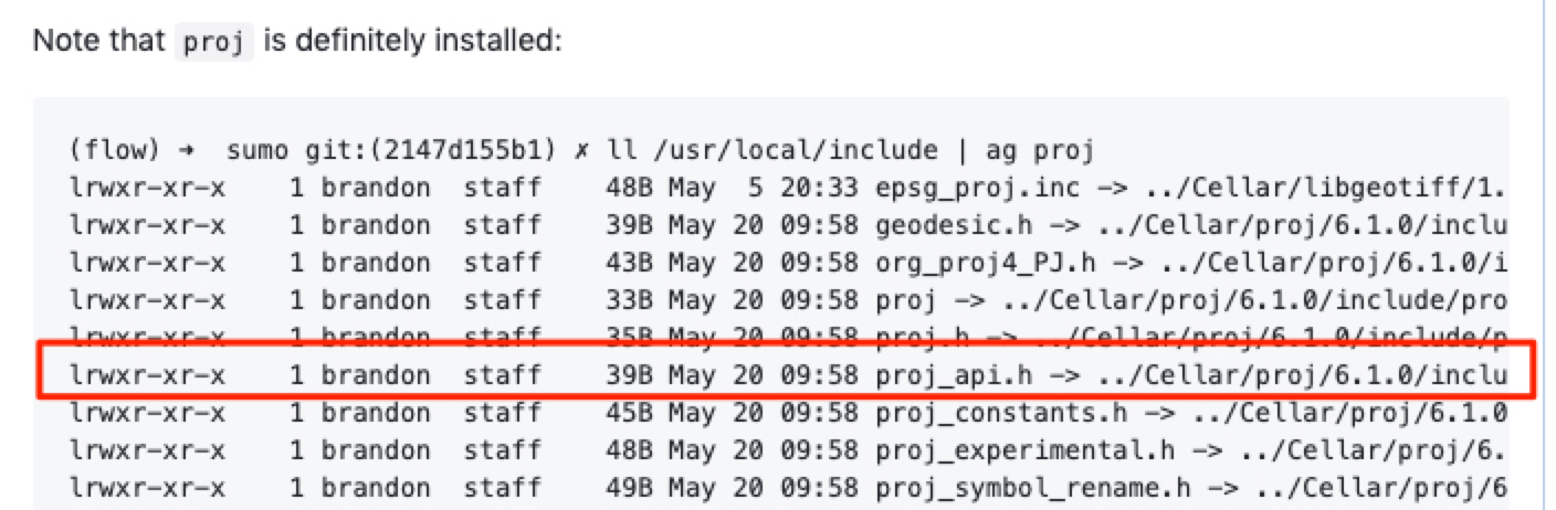 proj-includes not found when building sumo from source on