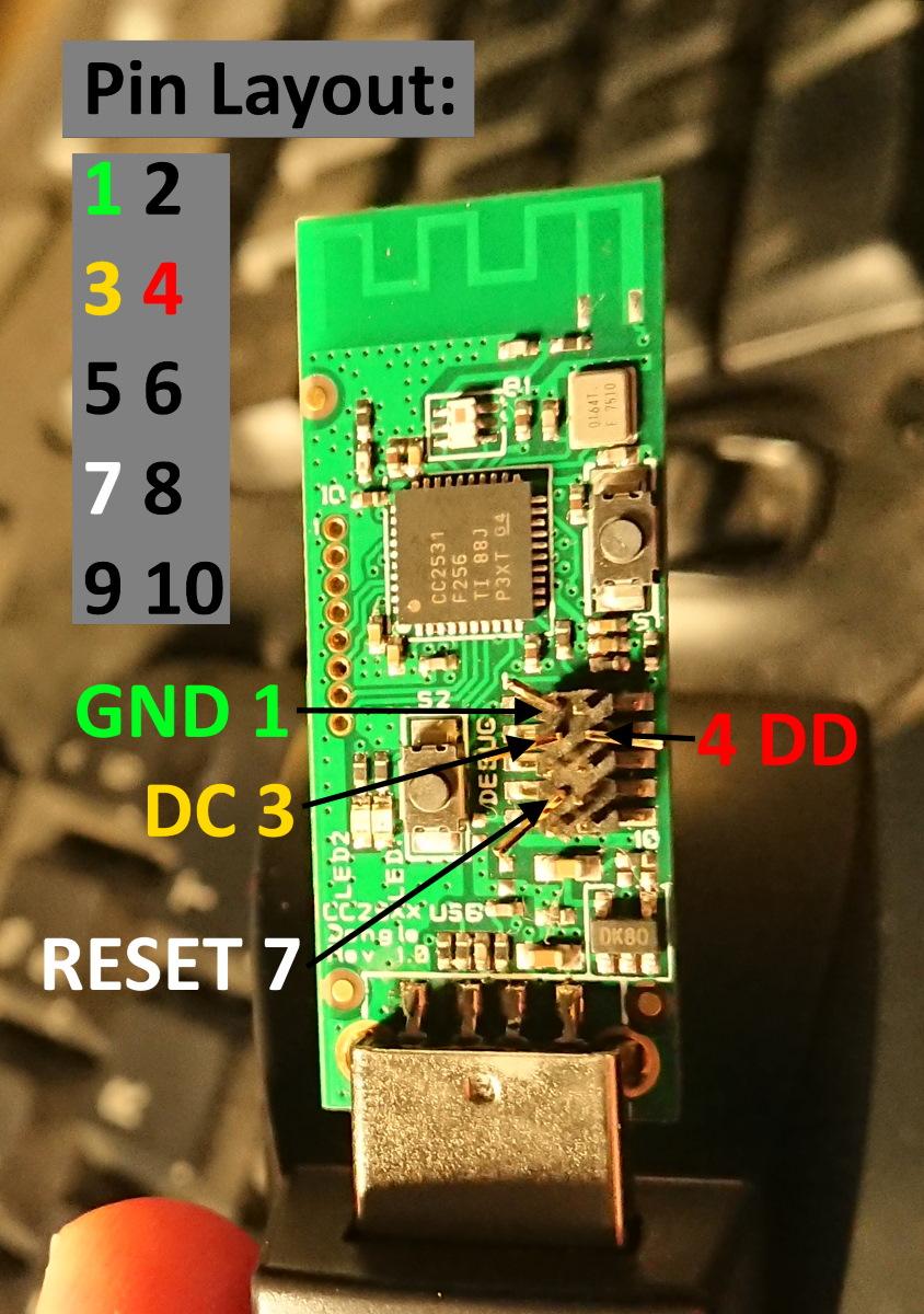 C2531 debug pins