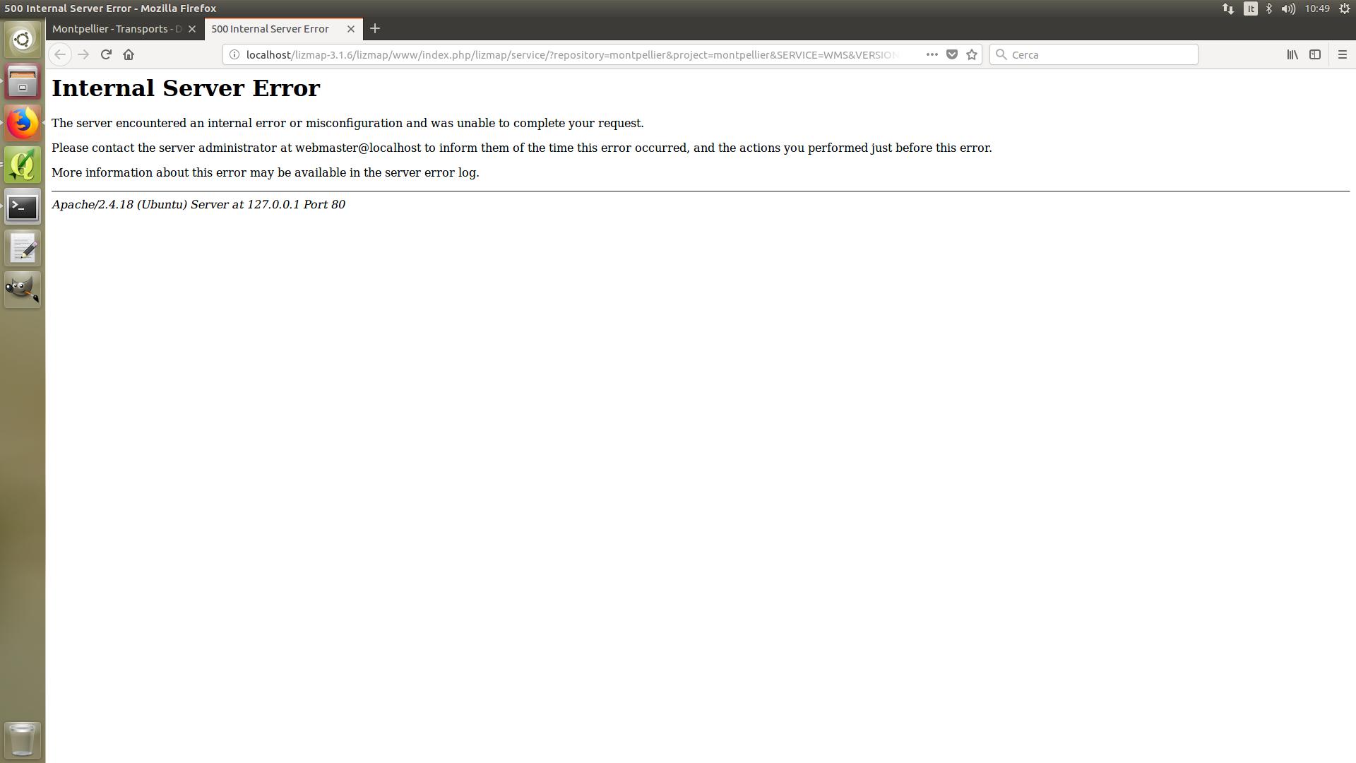 Qgis Apache Server