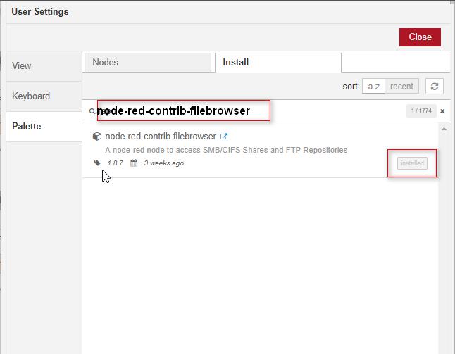 node-red-contrib-filebrowser - Node-RED