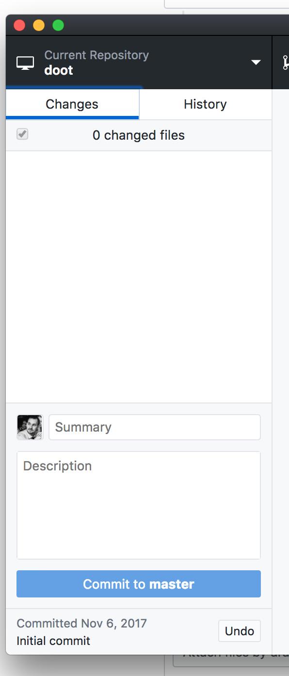 Gravatar showing i/o GitHub user avatar for initial repo