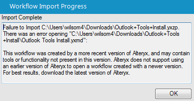 Outlook Tool Download Error · Issue #3 · rpaugh/Alteryx-Outlook